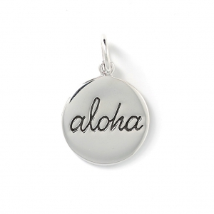 Pendente Aloha 23 mm  in Argento 925 x1