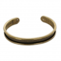 Base in ottone per bracciale Eco con bordo incurvato mm. 10 bronzo x1