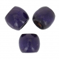 Perle rondes foro grande in legno 16 mm Purple x20