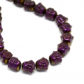 Perle in Ematite Testa di Budda 8x8x7 mm Purple Iris x1