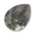 Cabochon Swarovski 4320 pera mm. 8x6 Crystal Silver Night x1
