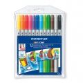 12 feutres de coloriage double pointe 1 et 3 mm - STAEDTLER - Noris Club