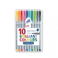 10 feutres Triplus Fineliner de 0.3 mm - STAEDTLER - Brillant Colours
