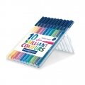 10 pennelli Triplus Fineliner di 1  mm - STAEDTLER - Brillant Colours