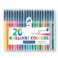 20 pennelli Triplus Fineliner di 1  mm - STAEDTLER - Brillant Colours