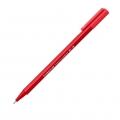 Pennello triangolare punta 0.8 mm - triplus broadliner STAEDTLER - Rosso