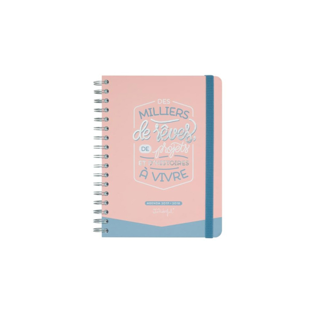 Agenda journalier 2017 2018 mr wonderful des milliers - Agenda de mr wonderful 2017 ...