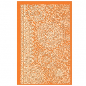 Silk Screen per pasta polimerica 158x121 mm - Floral Fantasy Henna