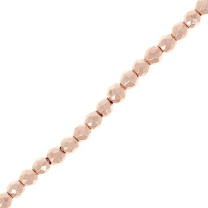 Mini-ematite sfaccettate mm. 2 Rose Gold x cm.40
