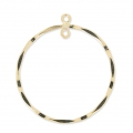 Pendente rotondo 2 anelli mm. 28.5 in Gold filled 14 K x1