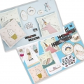 Kit di ricamo punto a croce 13x13 cm Girls Porta-monete