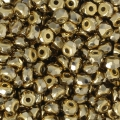 Perle in vetro Rep. Ceca Micro Spacers 2x3 mm Dorado Full x50
