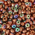 Perle in vetro Rep. Ceca Micro Spacers 2x3 mm Copper Plated AB x50