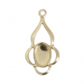 Pendente fino 19 mm per cabochon ovale 6x4 mm Gold filled 14 carati