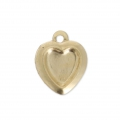 Ciondolo cuore 10 mm  Gold filled 14 carati x1