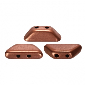 Perle in vetro Tinos® par Puca® 4x10 mm Light Copper Mat x10g
