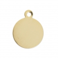 Ciondolo medaglia mm. 14 Gold filled 14K x1