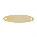 Distanziatore placca ovale 2 fori 24x6,2 mm  Gold filled 14 carati x1