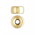 Stopper 6x3.4 mm Gold filled 14 carati x1