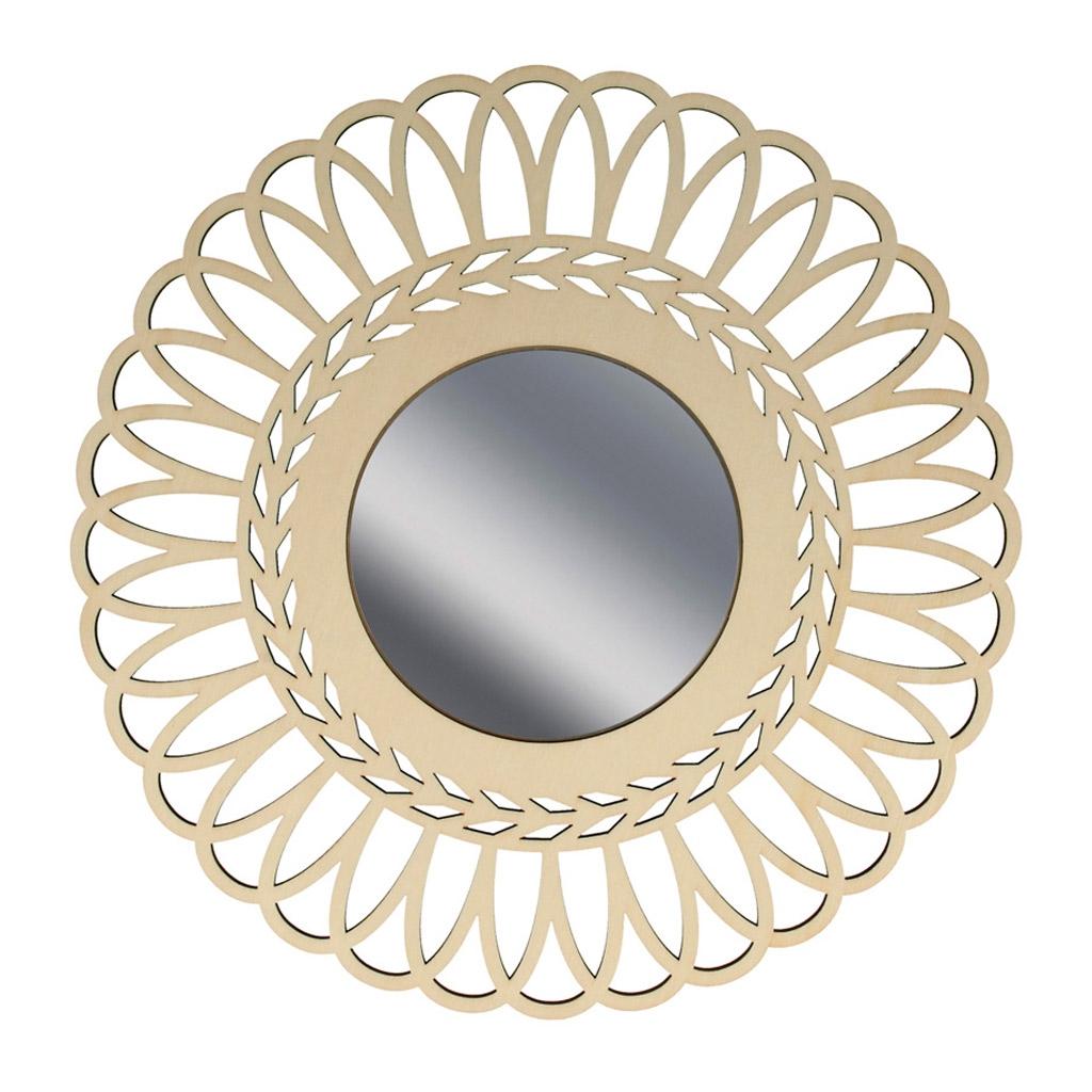 Specchio traforato di legno da decorare 28 cm corona perles co - Gioco specchio da decorare ...