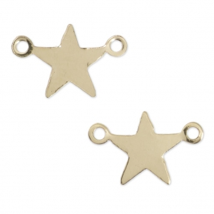 Distanziatori sottili stelle 2 anelli mm.11,5x7  Gold filled 14K x2