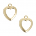Ciondoli cuori traforati 10 mm  Gold filled 14K x2