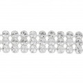 Swarovski Crystal Mini Mesh 40601 3 fili mm.5.3 Crystal x5cm