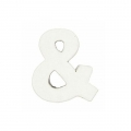 Simbolo piccolo & carta pesta 7 x 5.5cm Bianco da decorare