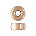 Rondelle 4x2.1 mm Rosa Gold filled 14 carats x2