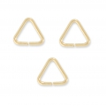 Anellini aperti triangolari mm.5 x 0.6 in Gold filled 14K x10
