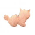 Pendente gatto per polvere Efcolor 33x23mm in rame x1