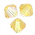 Biconi Swarovski mm. 4 Light Topaz Shimmer x50