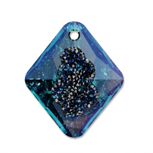 Pendente Swarovski 6926 Growing Crystal Rhombus 26 mm Crystal Bermuda Blue