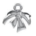 Attacco Metal Bow per perle Swarovski 5818/5810/5028/5003 8 mm rodiato