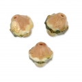 Perline in vetro Saturn Beads 11x10 mm Beige/Olivine Bronze x10