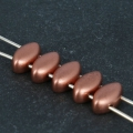 IrisDuo 4x7 mm Opaque Mix Rose Gold Ceramic Look x25