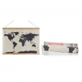 Cartina del mondo punto croce Luckies London 59,4x45 cm Cross Stich Map