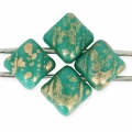 Silky Bead Dia mm.5x5 Green Turquoise Picasso x50
