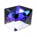 Cabochon Swarovski 4933 Tilted Dice 19 mm Crystal Purple x1