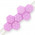 Honeycomb 6 mm Light Violet Silk Mat Laser Core x20