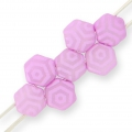 Honeycomb 6 mm Light Violet Silk Mat Laser Web x20