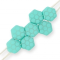 Honeycomb 6 mm Green Turquoise Silk Mat Laser Core x20