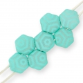 Honeycomb 6 mm Green Turquoise Silk Mat Laser Web x20