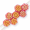 Honeycomb 6 mm Red Corail Laser Web AB x20
