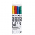 LACKSTIFT - 4 Pennarelli 1.2 mm - Paper Poetry - Giallo/Rosso/Blu/Verde