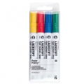 LACKSTIFT - 4 Pennarelli 2 mm - Paper Poetry - Giallo/Rosso/Blu/Verde