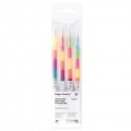 4 Penne Gel Paper Poetry 0.8 mm - Rainbow Neon