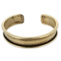Base in ottone per bracciale Eco con bordo incurvato mm. 15 bronzo x1