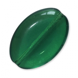 Perle in vetro Vintage par Puca® Ovale 16x11x4mm Emerald x10