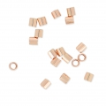 Schiaccini beads mm. 2x2 Rose Gold filled 14k x50